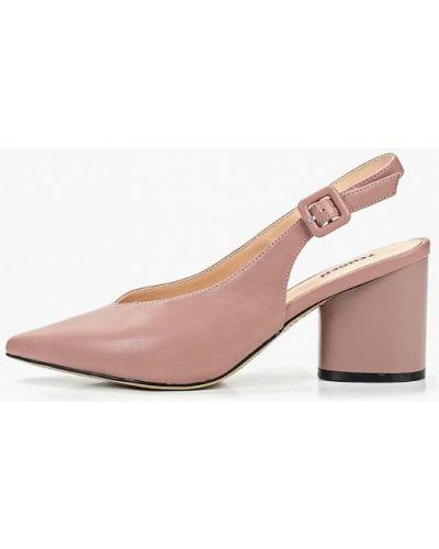Туфли на каблуке кожаные с открытой пяткой Zenden