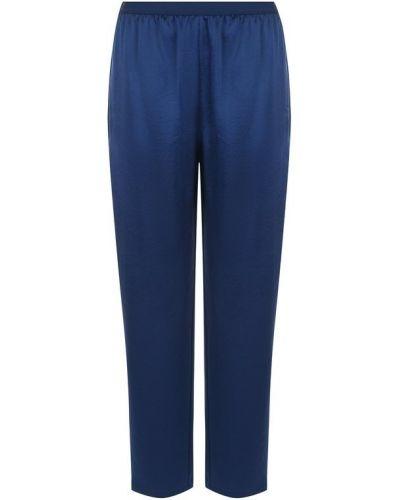 Укороченные брюки с поясом синие T By Alexander Wang