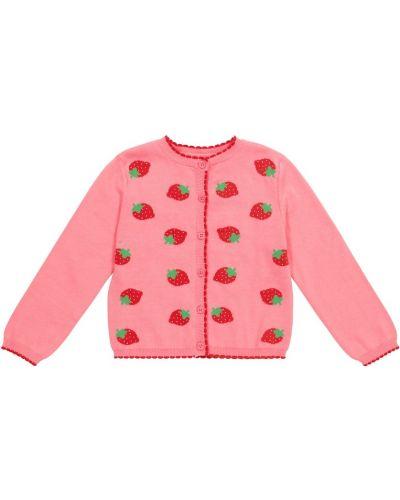 Różowy kardigan bawełniany Rachel Riley