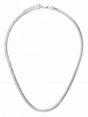 Wężowy naszyjnik łańcuch srebrny Missoma
