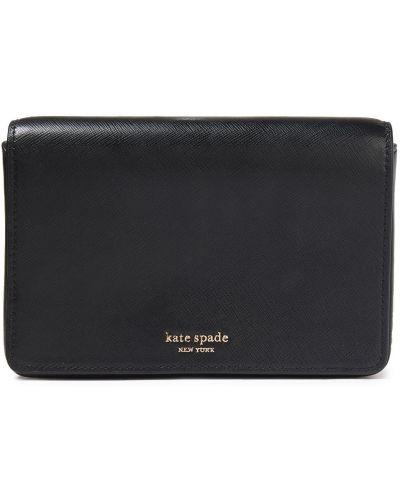 Черный кожаный кошелек Kate Spade New York