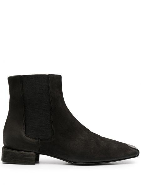 Черные кожаные ботинки квадратные Uma Wang
