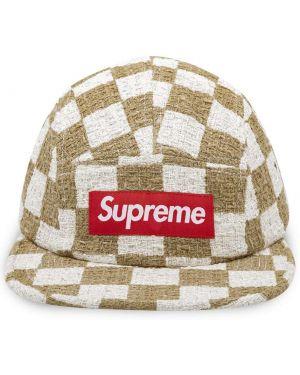 Brązowa czapka bawełniana Supreme