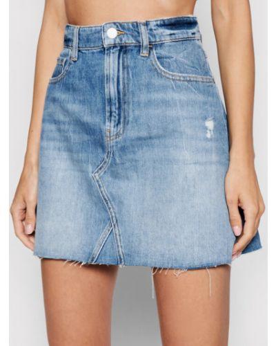 Spódnica jeansowa - niebieska Guess