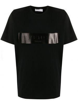 Bawełna prosto czarny koszula krótkie z krótkim rękawem okrągły dekolt Givenchy