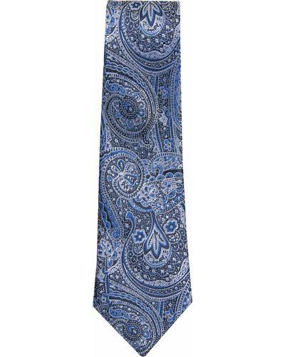 Нарядный синий галстук Malip