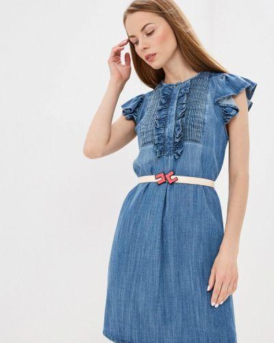 Джинсовое платье весеннее итальянский Elisabetta Franchi