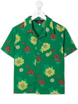 Zielona koszula krótki rękaw bawełniana The Animals Observatory