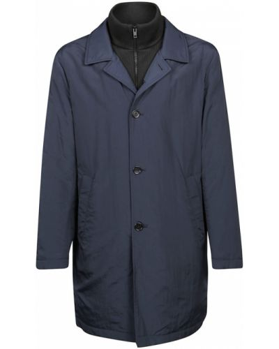 Niebieski płaszcz przeciwdeszczowy Fay