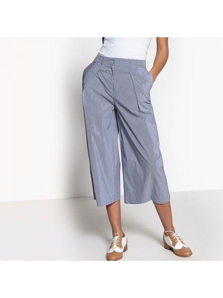Юбка макси с завышенной талией в полоску брюки La Redoute Collections