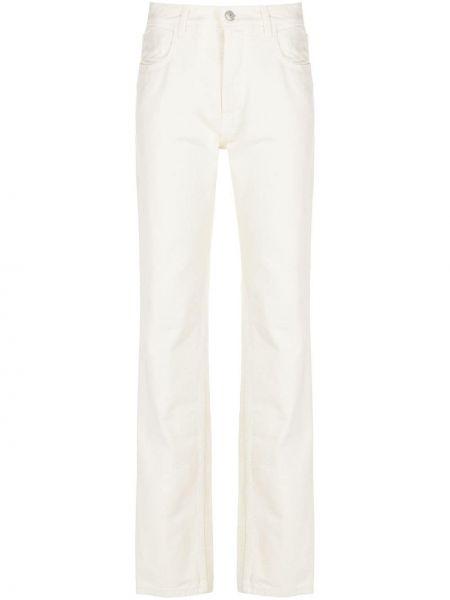 Прямые белые джинсы классические с карманами Magda Butrym