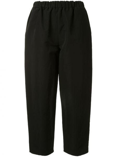 Czarne spodnie bawełniane z paskiem Dusan