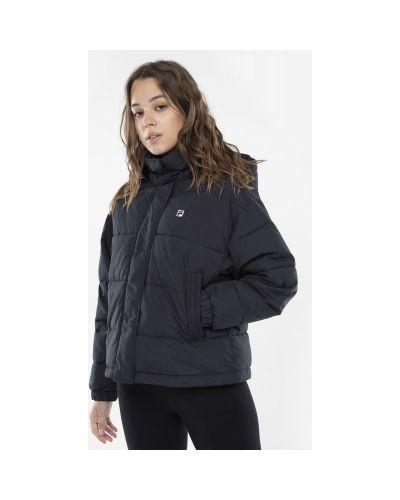 Куртка с капюшоном утепленная черная Fila