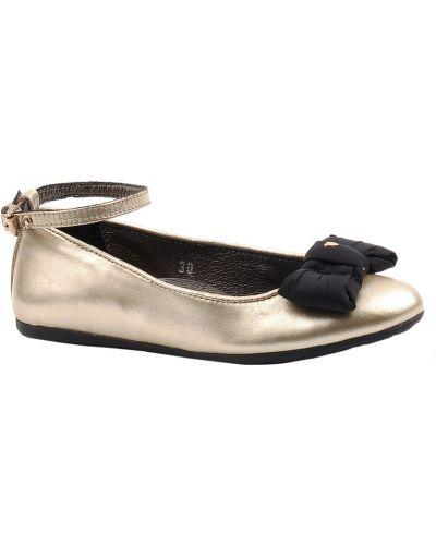 Туфли золотой Moschino