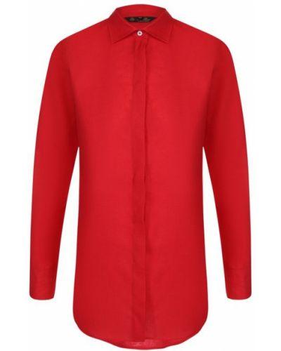 Блузка с длинным рукавом приталенная на пуговицах Loro Piana