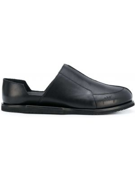 Czarne loafers skorzane płaska podeszwa A-cold-wall*