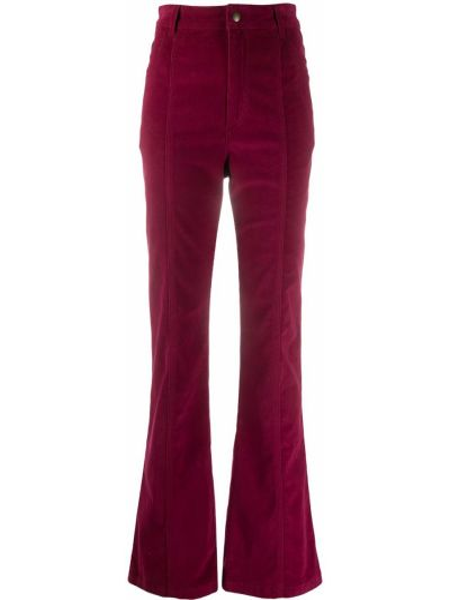 Розовые расклешенные брюки с вышивкой с высокой посадкой Philosophy Di Lorenzo Serafini