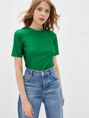Зеленая футболка с короткими рукавами Theone By Svetlana Ermak