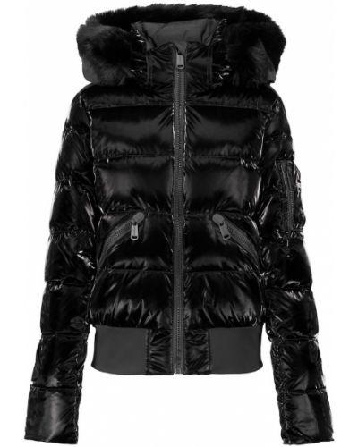 Куртка из искусственного меха - черная Goldbergh