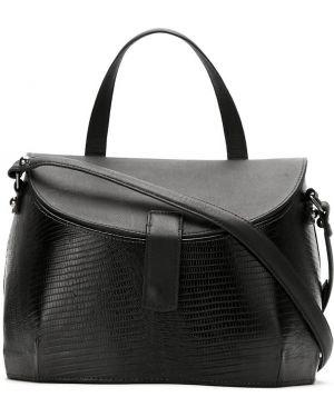 Черная кожаная сумка Mara Mac