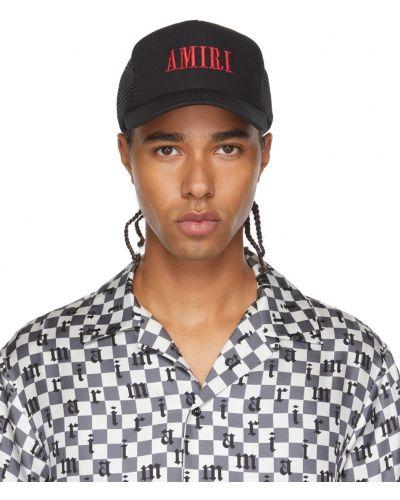 Кожаная кепка - черная Amiri