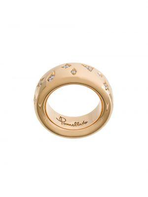 Złoty pierścionek z diamentem Pomellato