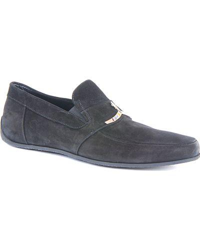 Черные кожаные мокасины Cesare Paciotti