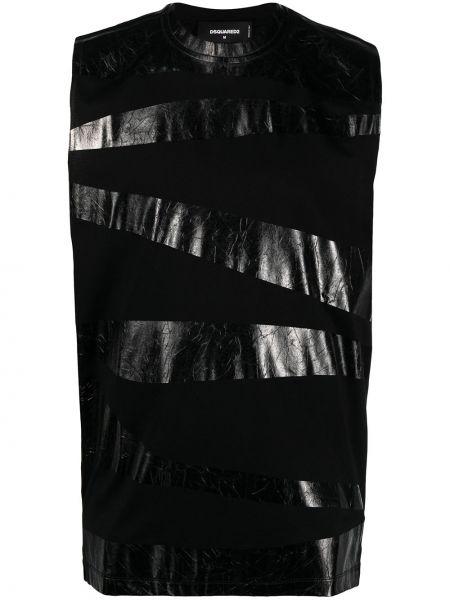 Czarna kamizelka bez rękawów bawełniana Dsquared2