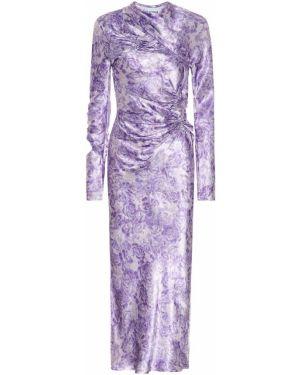 Платье миди с цветочным принтом годе Ganni