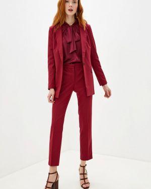 Брючный костюм бордовый красный Villagi
