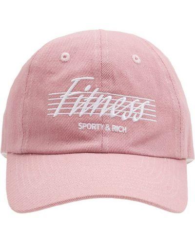 Розовая бейсболка с вышивкой Sporty And Rich