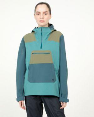 Нейлоновая куртка с капюшоном мембранная на молнии туристическая Mountain Hardwear