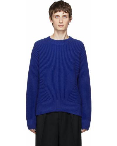 Sweter wełniany - niebieski Ami Alexandre Mattiussi