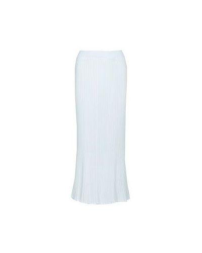 Хлопковая юбка макси - белая Bruno Manetti