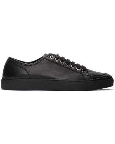Klasyczne czarne sneakersy skorzane Brioni