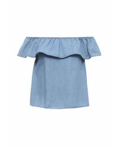 Голубая блузка с открытыми плечами Vero Moda