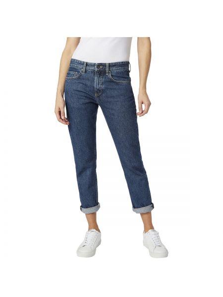 Джинсы бойфренды прямые с поясом Pepe Jeans