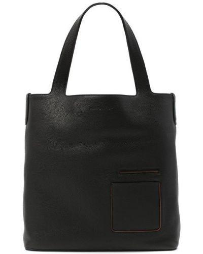 Кожаная сумка шоппер Ermenegildo Zegna