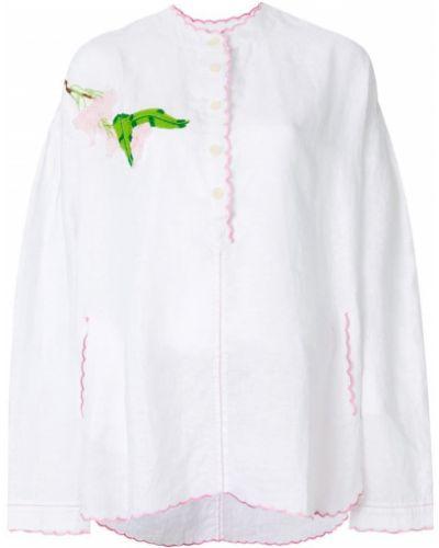 Туника с вышивкой белая Natasha Zinko