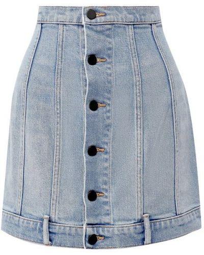 Юбка мини джинсовая на пуговицах Denim X Alexander Wang