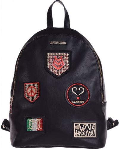 Рюкзак на молнии черный Love Moschino