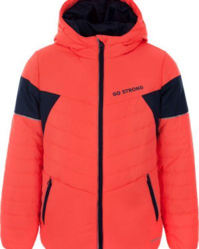 Утепленная куртка с капюшоном демисезонная укороченная Demix