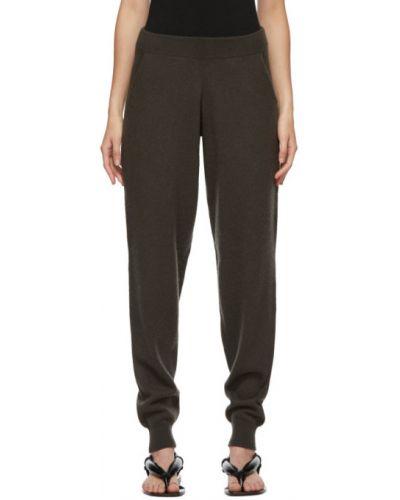 Кашемировые оливковые брюки с манжетами с карманами Frenckenberger