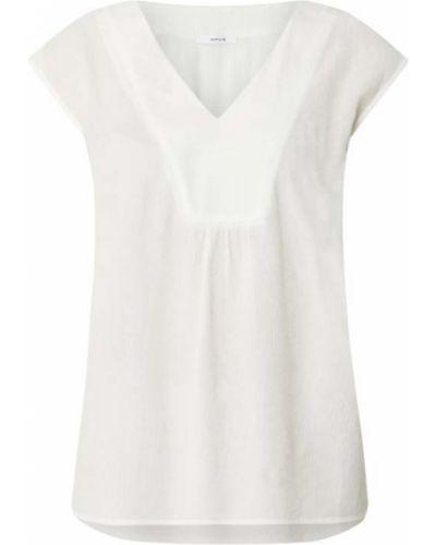 Koszulka w serek z dekoltem w serek - biała Opus