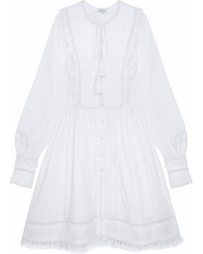 Хлопковое приталенное белое платье Talitha