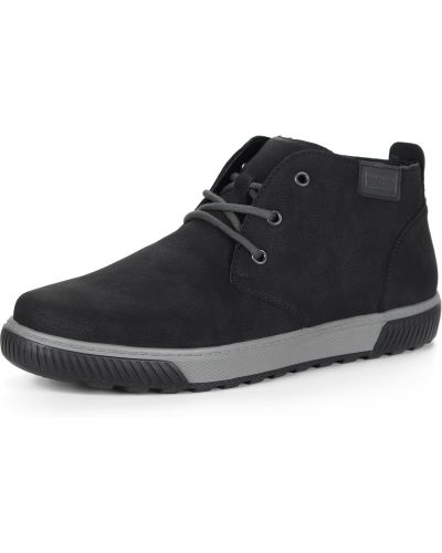 Черные ботинки без каблука Rieker