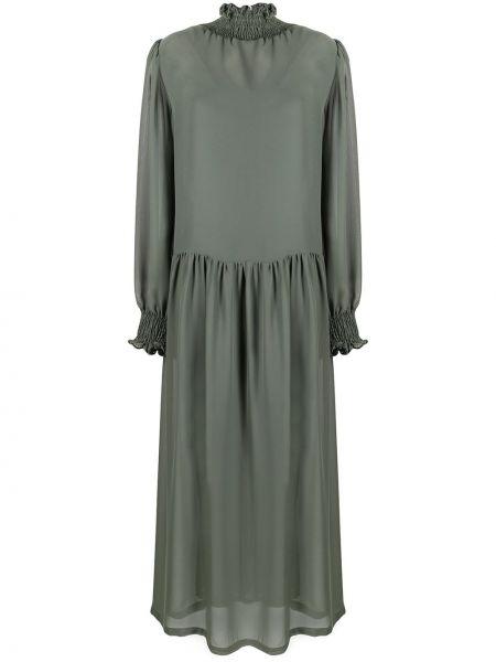 С рукавами зеленое платье макси с подкладкой SociÉtÉ Anonyme