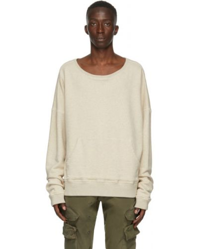 Beżowa bluza z długimi rękawami Greg Lauren