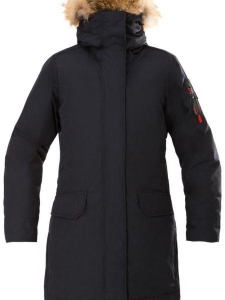 Пуховое спортивное пальто с капюшоном на молнии с опушкой Red Fox