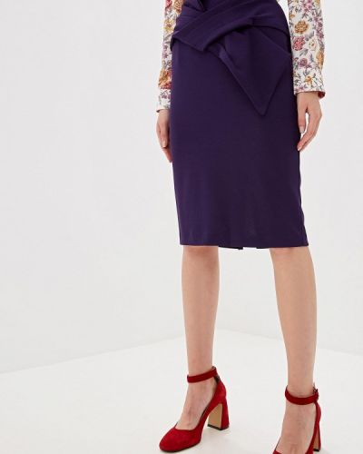 Фиолетовая юбка карандаш с рукавом 3/4 Perfect J